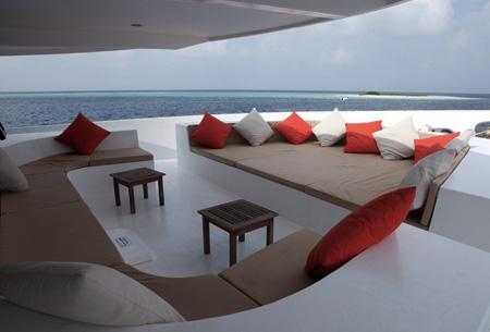 Lounge Area onboard Manta Cruise